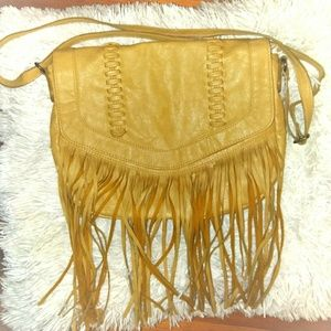 Crossbody Vegan Leather Fringe bag